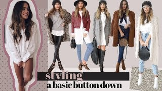 5 Simple Ways to Style A White Button Down
