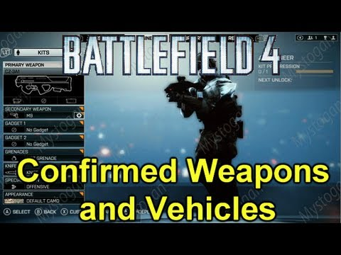 Battlefield 4 - All Confirmed Weapons and Vehicles With Pictures (BF3 Gameplay)