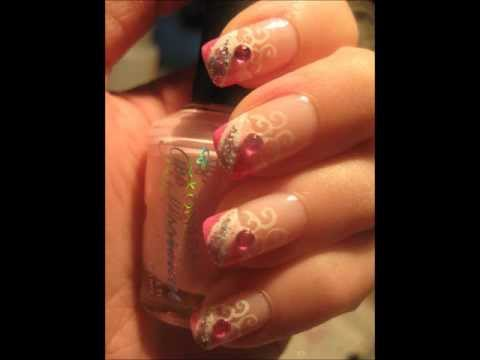 Nailart: Pink glitter party nails
