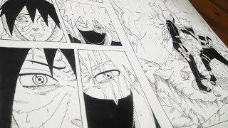 Naruto - Drawing a manga page