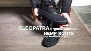 "Women's Vegan Handmade Organic Cannabis Hemp Boots ""Cleopatra"" by Rawganique.co"