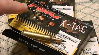 PMC X-tac 5.56 Nato 62 Grain Green Tip Ammo review