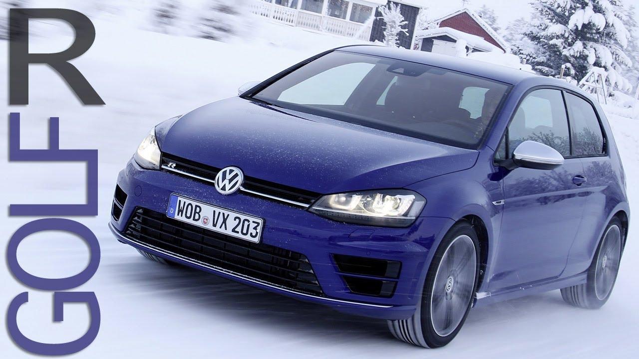 New VW Golf R MK7 - SNOW DRIFT - Winter Test Drive