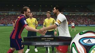 Probando la Demo FIFA 15 - Equipos, Contenido y Partidazo de Barcelona Vs PSG - Xbox 360