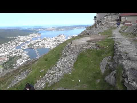 World Travel : Trip 124 : Bergen, Norway - Hike into surrounding mountains, via Ulriken Cable Car