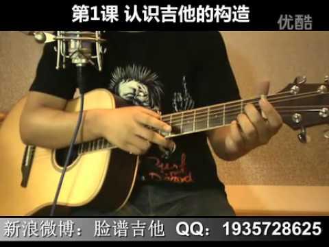 脸谱吉他教学入门教程—我想学吉他  第1课 认识吉他的构造