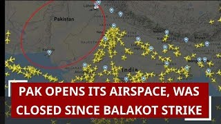 Pakistan opens airspace for India finally..