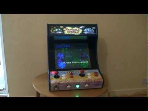 Custom Built BarTop Arcade Machine with Bubble Bobble Theme