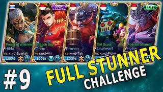 NGAKAK! FULL HERO STUNNER (TANK) BIKIN LAWAN TAK BISA BERKUTIK - Mobile Legends Indonesia Part 9