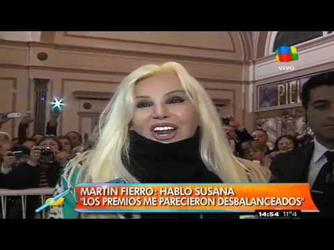 Susana puso en duda su presencia en los Martín Fierro