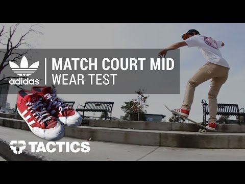 Adidas Match Court Mid Skate Shoes Wear Test Review - Tactics.com