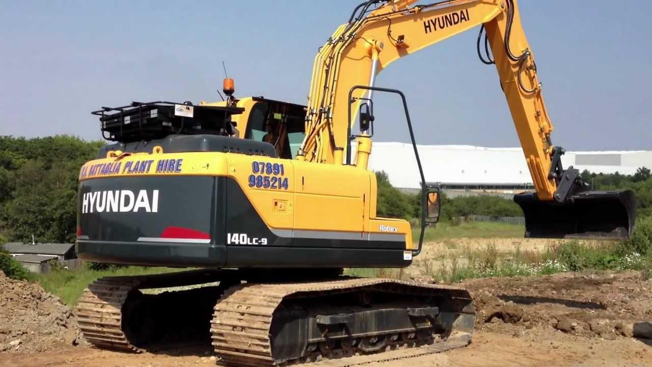 hyundai r140 lc9 excavator youtube