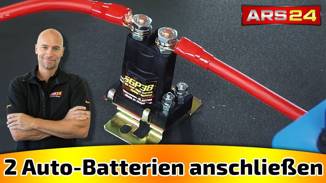 zwei batterien im auto mit trennrelais anschliessen ars24 com car hifi tutorial youtube. Black Bedroom Furniture Sets. Home Design Ideas