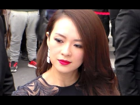 ZHANG  ZIYI 章子怡 @ Paris 16 april 2015 Inauguration Peninsula Hotel