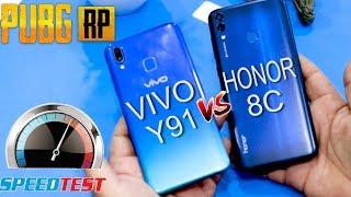 HONOR 8C VS VIVO Y91 | SPEED TEST | PUBG COMPARISON | WHICH IS BETTER ? IN URDU /