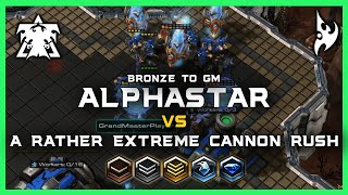 A Rather Extreme Cannon Rush AlphaStar Bronze to GM Ep6 [TvP] Deepmind A.I. Starcraft 2
