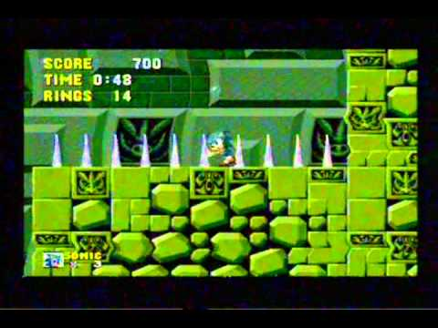 Sonic The Hedgehog Sega Megadrive Gameplay 10 - Classic Retro Game Room