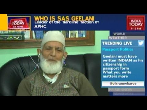 News Today At Nine: Syed Ali Shah Geelani Exclusive