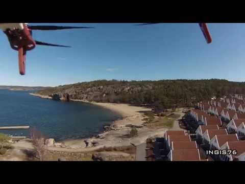 RC FLIGHT VIEW AT CAPRI STRANDEN SVERIGE CAPRI BEACH SWEDEN DJI F550 HEXACOPTER FPV FLYING FUN