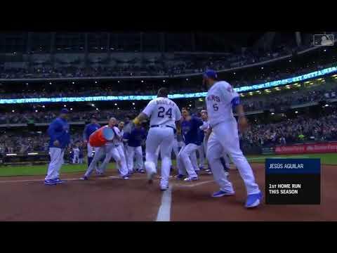 Jesus Aguilar Walkoff Home Run vs Marlins