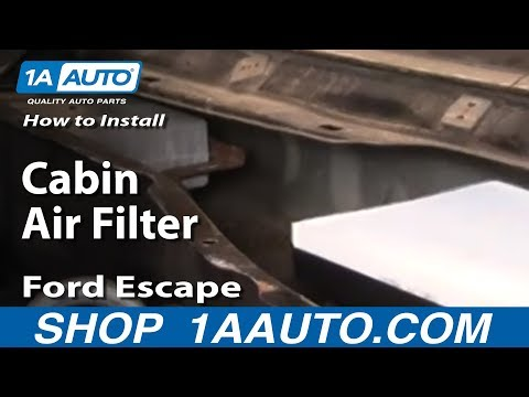 How To Install Replace Cabin Air Filter Ford Escape 01-07 1AAuto.com