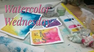 Watercolor Warm Up - Watercolor Wednesday