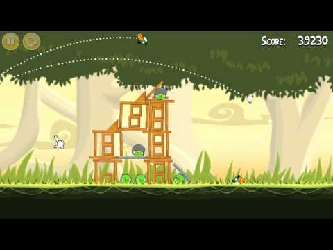 Danger Above - Level 6-7 - Three Stars [ Angry Birds ]