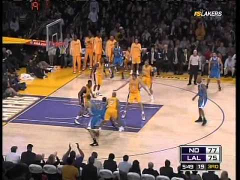 Kobe gets some contact from the defender on all three of those three pointers. January 6, 2009.