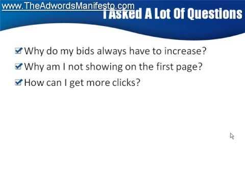 http://www.TheAdwordsManifesto.com - Video 2 - Learn Adwords Marketing