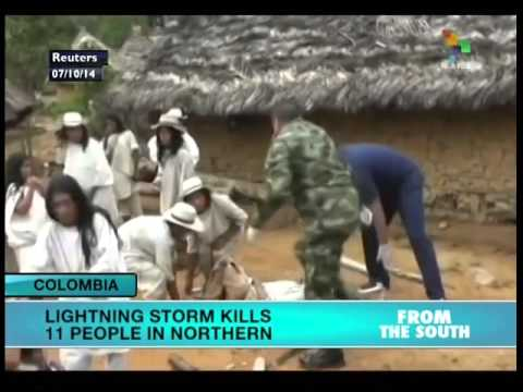 Lightening Strikes leave eleven people dead in...