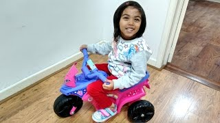 Pink Fairy Motorbike Ride On Power Wheels | Surprise Toy Unboxing & Assembly Playtime Kids Fun