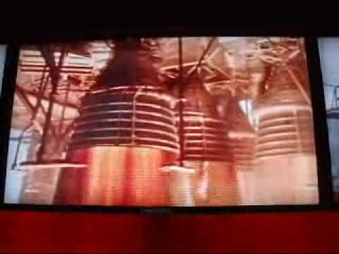 The first static test of all five first stage Saturn V F1 Engines.
