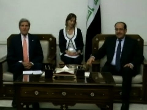 Raw: Kerry Meets Iraqi Prime Minister