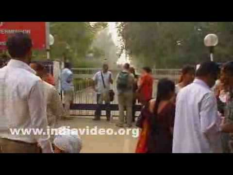 Wagah border or the Indo-Pak border