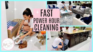 POWER HOUR CLEANING 2018 | Style Mom XO