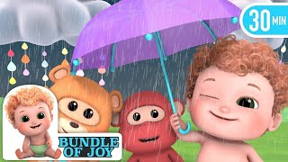 Rain Rain Go Away |  Raining | +More Nursery Rhymes and Baby Songs 4K - Blue Fish