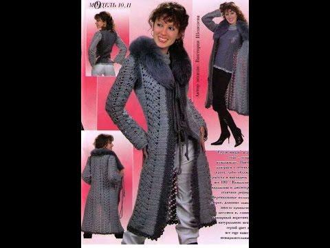 Вязание спицами пальто для женщин модные модели