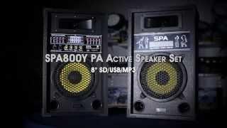 "SPA800Y PA Active Speaker Set 8"" SD/USB/MP3 170.152"