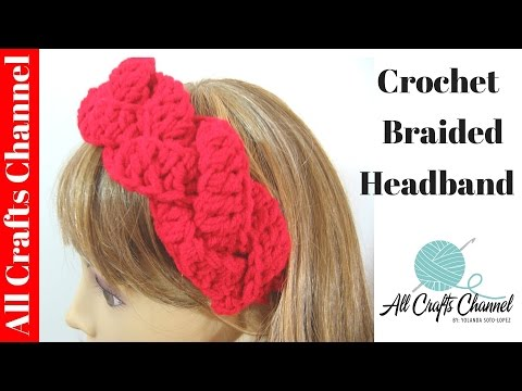 Crochet braided headband