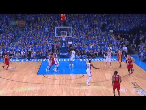 James Harden amazing 3 point!!! Againt Hunder