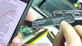Searching for Qualcomm QC 3.0 inside Vinsic 20000 mAh Powerbank: Teardown