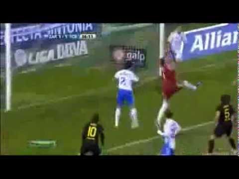 (HD) Zaragoza - FC Barcelona 1:4 - 7.04.2012 - Carles Puyol Goal - Highlights