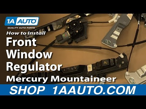 How To Install Replace Front Window Regulator 2002-10 Mercury Mountaineer Ford Explorer