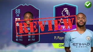 FIFA 19 PLAYER REVIEW | POTM 88 RAHEEM STERLING | SUPER SONIC!!!