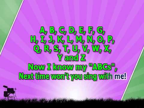 Karaoke for kids   ABC Alphabet Song   slow