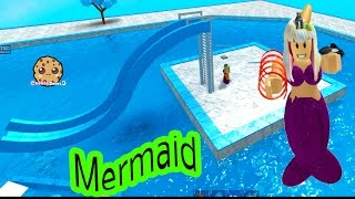 Baby Mermaid Pool + I'm A Pirate - Cookieswirlc Let's Play Roblox Online Game Play