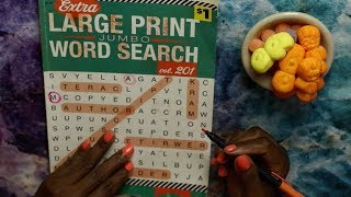 LARGE WORD SEARCH ASMR MARSHMALLOW / CHEWY CUBES