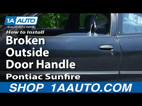 How To Install Repair Broken Outside Door Handle Cavalier Sunfire 95-05 1AAuto.com