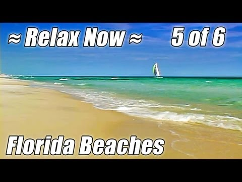 FLORIDA BEACHES #5, Best Panama City, Pensacola, Navarre Beach Ocean Waves Sounds Relaxation Video