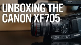 Unboxing the Canon XF 705 4k Video Camera